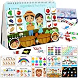 ENHANCED VERSION BUSY BOOKS:Busy Book Learning Toys is Double Thickening Treatment, Strong and Durable, Prevent Small Hand Injury Caused By Too Thin Small Card, Not Easy To Bend, Deformation and Tear. KIDS FAVORITE DESIGN:We Designed 12 Themes for To...