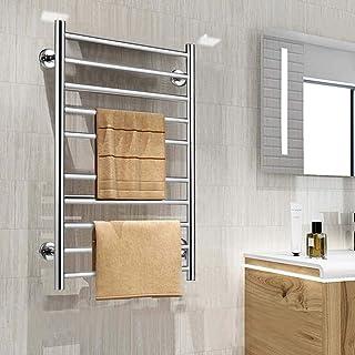 ZJN-JN Radiador toallero calentador eléctrico, Inicio de baño de acero inoxidable ahorro de espacio Plug-in montado en la pared de tela de toalla climatizada secado Panel de 115W Accesorios de baño de