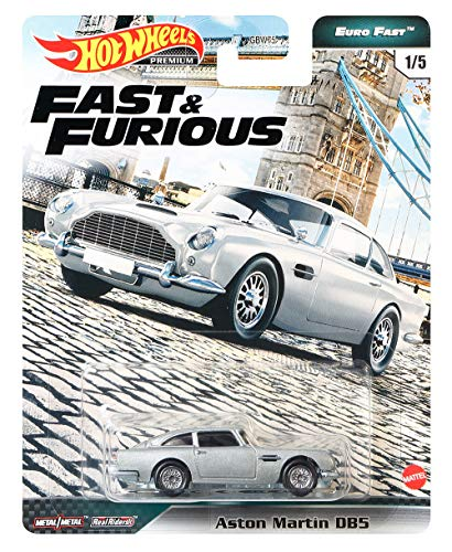 Hot Wheels Fast & Furious Collection Aston Martin Db5 Vehicle 1:64 Scale from The Fast Film Franchise, Modern & Classic Cars, Great Gift for Collectors & Fans of The Movies