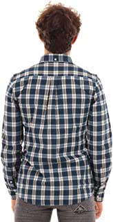 Barbour - Indigo Tailored Shirt - Camisa de hombre azul/blanco