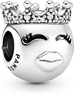 Pandora 797143CZ Silver Princess Emoticon Charm