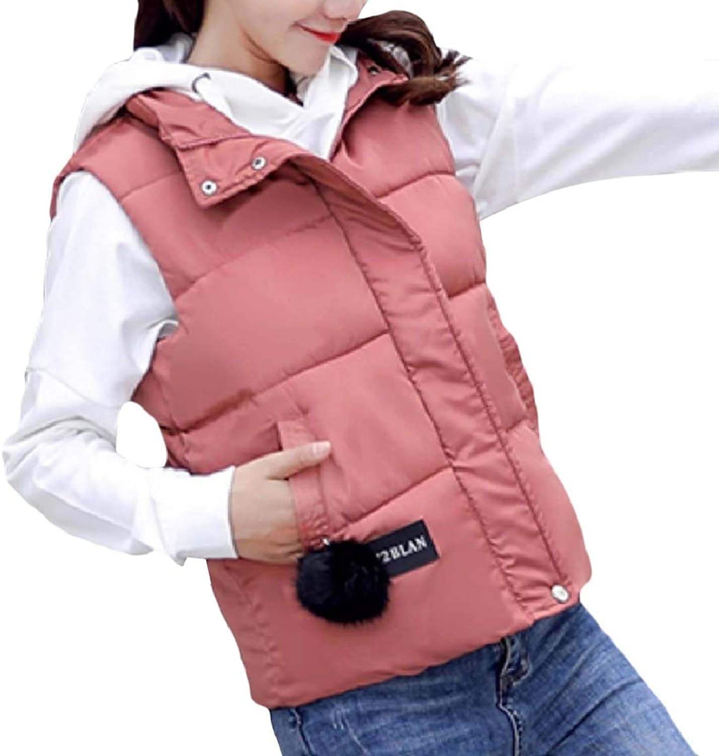 Mfasica Women Padded Warm Quilted Baggy Style Coat Waistcoat Anorak Jacket