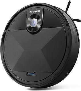 Robot Vacuum, APOSEN Robot Vacuum Cleaner A200, Self-Charging, Smart Move Path, 360° Smart Sensor Protection, Long Life Battery, Robotic Vacuum Best for Pet Hairs, Hard Floor, Low Pile Carpet etc.