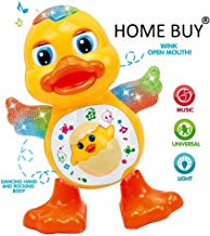 home buy Dancing Duck Toy with Real Dancing Action & Music Flashing Lights, Multi Color