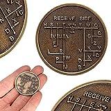 FidgetFidget CW Morse Code Decoder Chart Medal Commemorative Bronze Alloy Steel Coin Gift