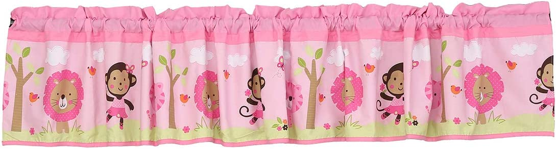 CribMATE Nursery National uniform Recommended free shipping Room Window Valance 1 Pink Brown Sports Anim PC