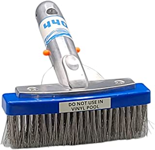 440 Heavy Duty 5 Inches Wide Pool Brush, Stainless Steel Bristles, Professional-Brush Cleaner, Works for General Cleaning ...