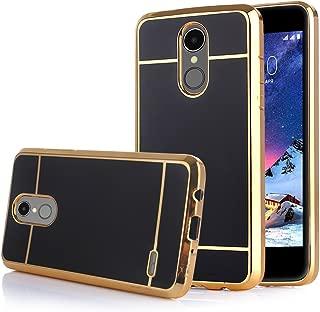 TabPow LG Stylo 3 Case Electroplate Slim Glossy Finish, Drop Protection, Shiny Luxury Case for LG Stylo 3/ LG Stylo 3 Plus - Black Gold