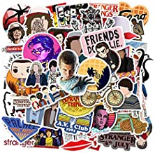 Decal Stickers 50 PCS Stranger Things Laptop Sticker Waterproof Vinyl Stickers Car Sticker Motorcycle Bicycle Luggage Decal Graffiti Patches Skateboard Sticker (Stranger Things)