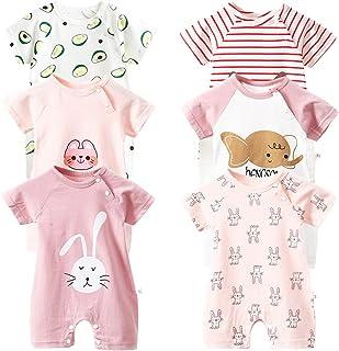 Body de manga corta para bebé, paquete de 6 unidades, de manga corta, para bebés