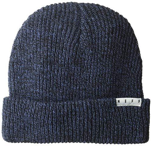 Neff Herren fold Heather Beanie Strickmütze, Marineblau/schwarz, Einheitsgröße