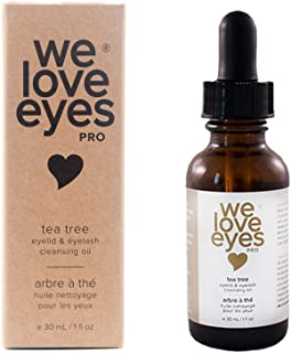 All Natural Tea Tree Eyelid Cleansing Oil - We Love Eyes - Eye Cleanser - Relief for Blepharitis, Demodex, Dry Eye Symptoms, Eco Friendly, Reduce Itching & Inflammation, Chemical & Alcohol Free - 30ml