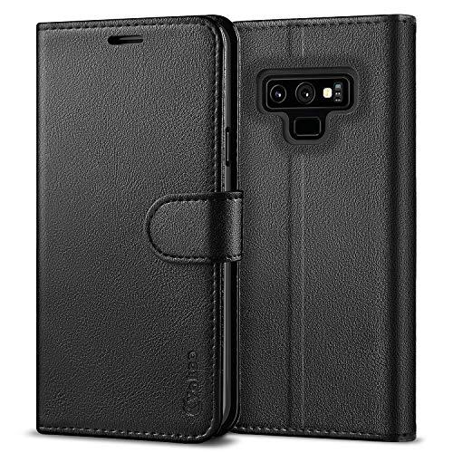 VakooWalletSerieHandyhüllefür Samsung Galaxy Note 9 Hülle, Schwarz