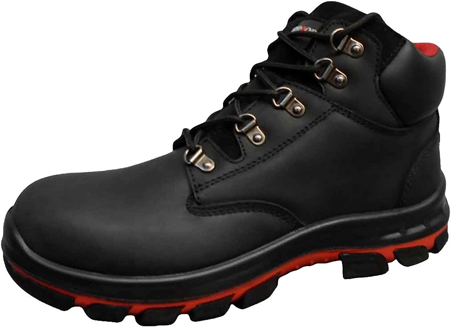 Warrior Workwear 0118MMB45 5 Waxy Full Grain Boot, Size 5, Black