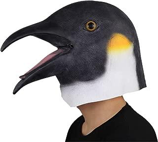 ifkoo Penguin Mask Novelty Halloween Costume Party Latex Animal Head Mask