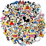 Mickey Mouse Stickers for Water Bottles and Laptop Cute Waterproof Stickers Best Gift for Kids Teen(50 PCS)