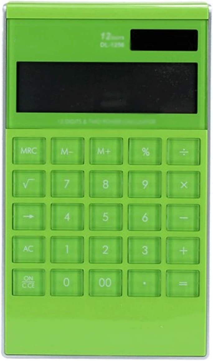 HDCDKKOU Multi-Function Calculator 12-bit Office Business Voice Desktop Large Calculator with Large LCD Display and Large Buttons (Color : Green)