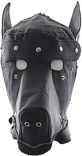 SGJFZD Halloween Mask Dog Slave Head Hood Bondage SM Sexy Toy Fully Enclosed Headgear Masks Adult Sex Game for Couples Lov...