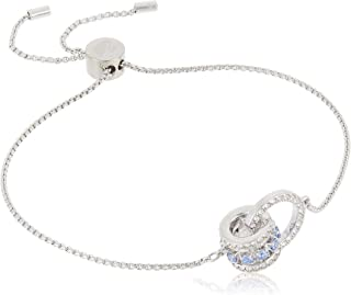 SWAROVSKI Women's Further Jewelry Collection Rhodium Finish Blue Crystals Clear Crystals