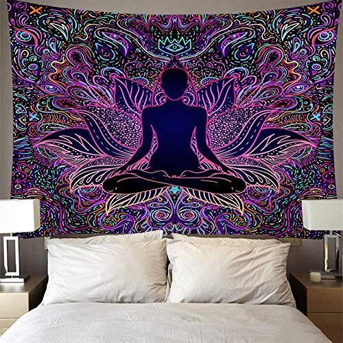 WERT Tapiz de Arte psicodélico Bohemio para Colgar en la Pared, Fondo Decorativo para Sala de Estar, Dormitorio, A2 200x150cm