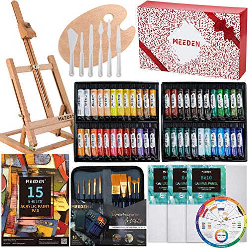 MEEDEN 64 Piece Acrylic Painting Set