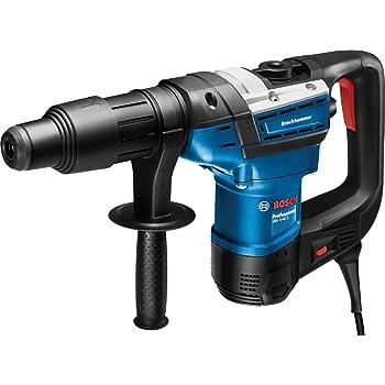 Bosch Professional Bohrhammer GBH 5-40 D SDS Plus, inkl. Zusatzhandgriff, Fetttube, Maschinentuch, im Koffer