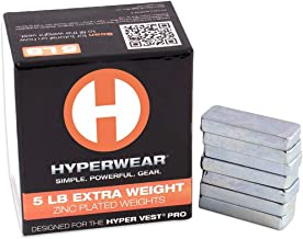 Hyperwear Booster Pack for Hyper Vest PRO Weighted Vests - Set of 35 Extra Weights (5lbs Total) (Renewed)