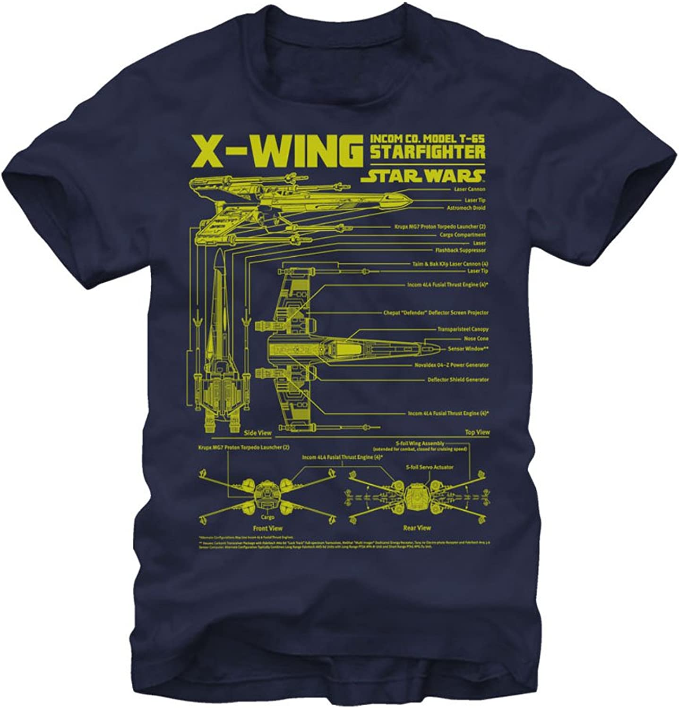 Star Wars X-Wing Starfighter Mens T-Shirt