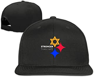 Men's&Womans Sports Stronger Than Hate Design Flat Baseball Caps Adjustable Unisex