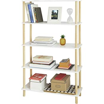 SoBuy STR04-WN Estantería de 5 Niveles para Baño Librería Escalera 80 * 30 * 138 cm ES (80 x 30 x 138 cm): Amazon.es: Hogar
