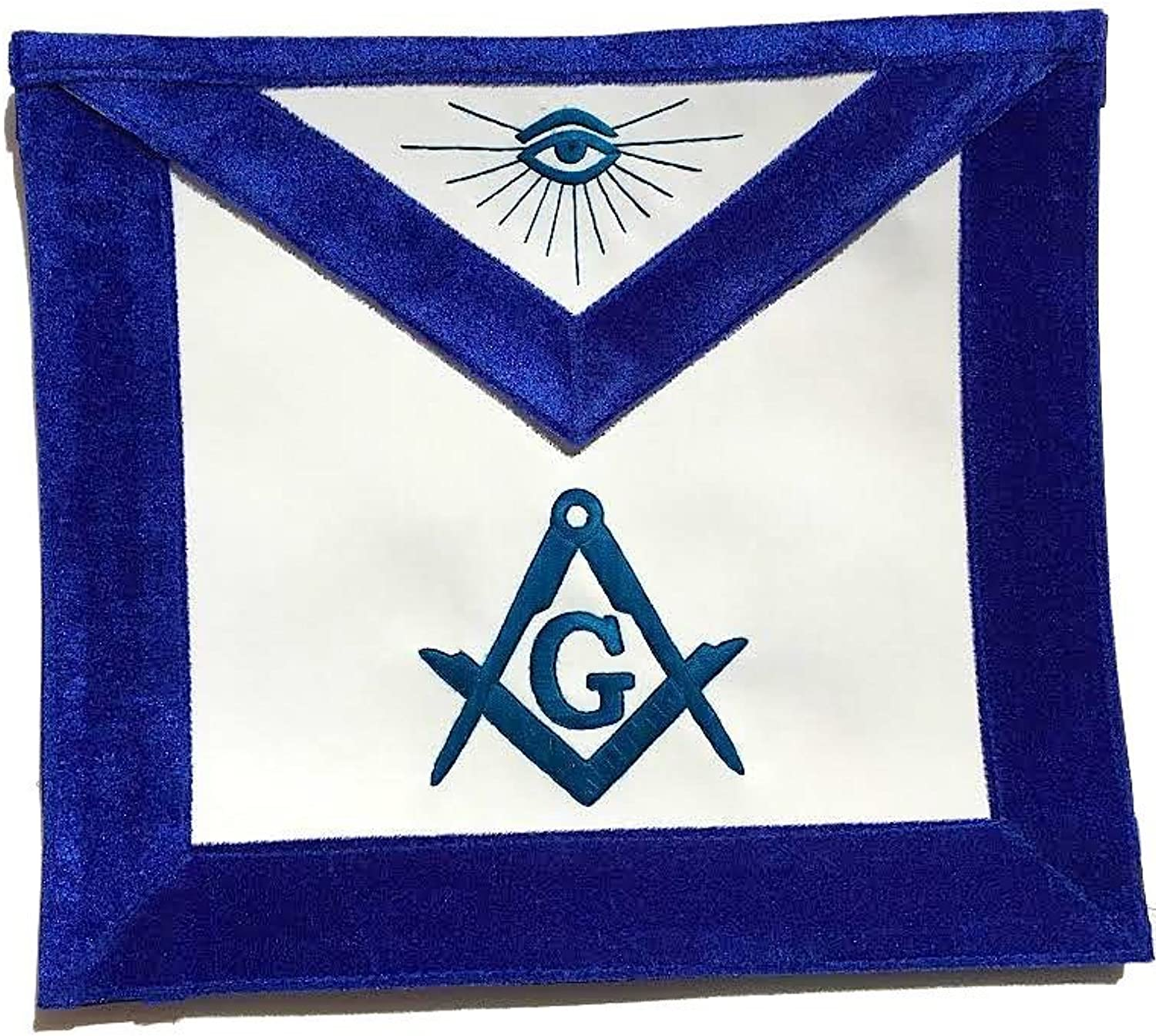 Master Mason bluee Lodge Apron bluee velvet Broders