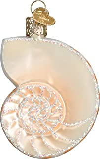 Old World Christmas Ornaments: Nautilus Shell Glass Blown Ornaments for Christmas Tree