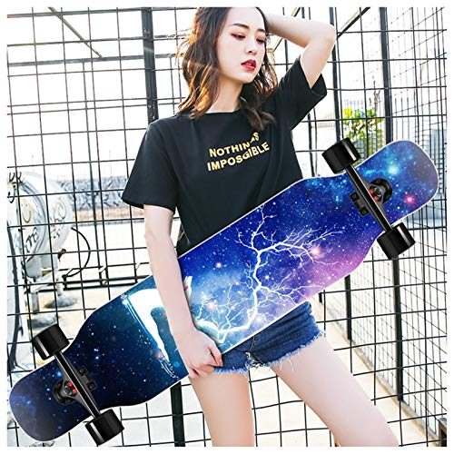 KHUY Premium Longboard Skateboard Cruiser Longboards Completos para Cruising Freestyle Dancing 42 Pulgadas Monopatin Skateboard para Adulto Niño Chica Niia Principiantes (Color : Style A)