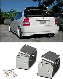 VXMOTOR - for 96-00 Honda Civic EK9 3DR Type R Spoiler CTR Wing Riser Lift Alex Tilt Brackets Silver