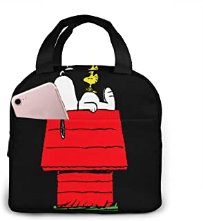 Lunch Bags For Men Women, Snoopy Sleep Above The Red House Insulated Durable Lunch Box Tote Bag Cooler Bag For Work School Picnic Travel Beach
