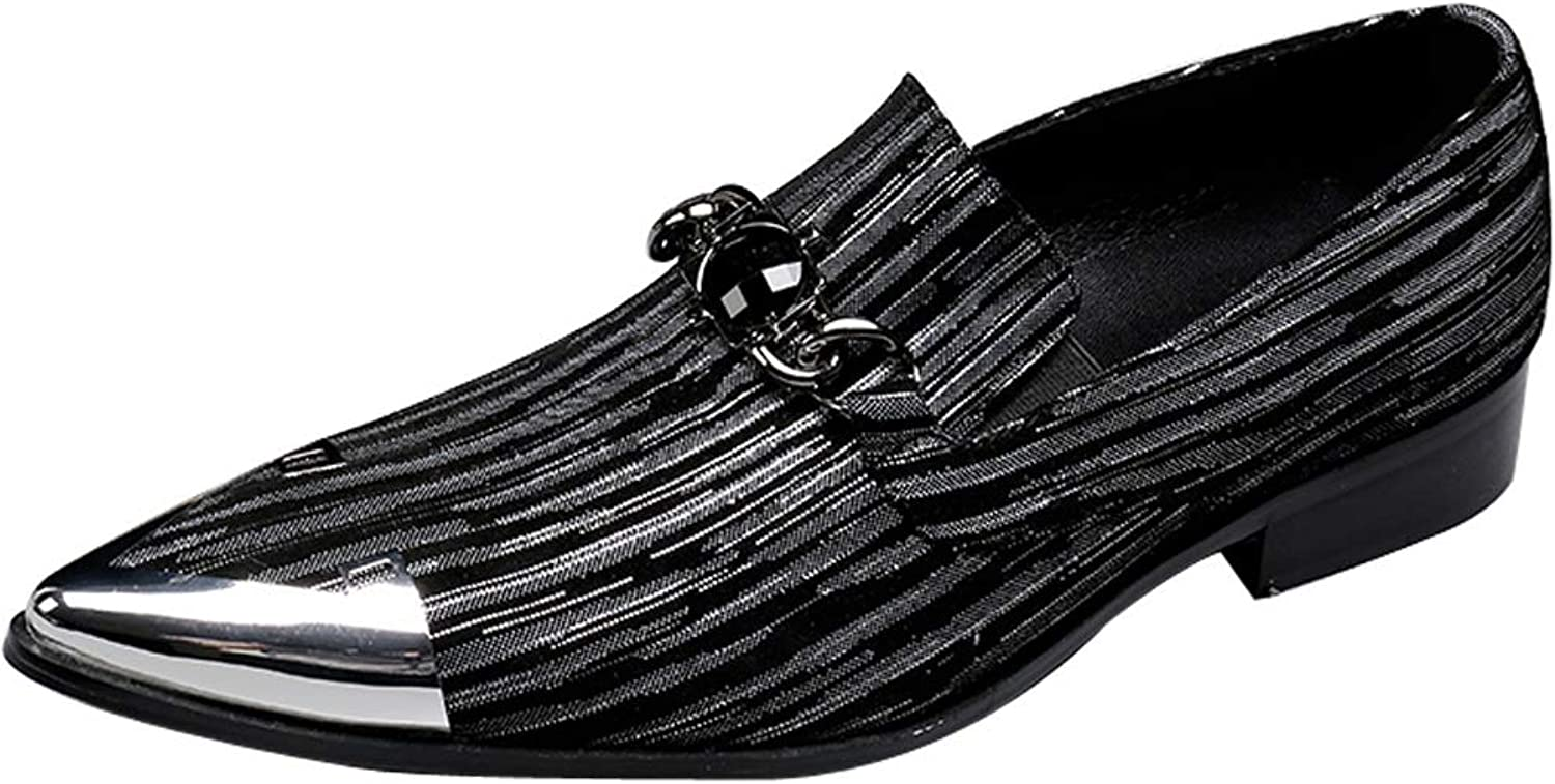 4b3020b59 Rui Landed Oxford for Men Formal shoes Slip Slip Slip On Style Genuine  Leather Imitation Crystal Delicacy Art Line 544d2a