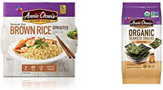 Annie Chun's Cooked Sprouted Brown Rice & Seaweed Snack, Sesame Flavored (Bundle)