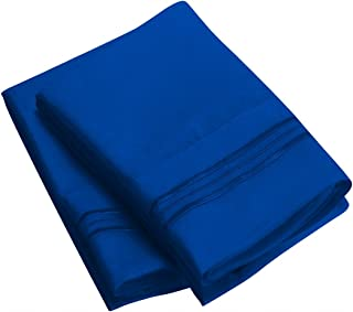 Sweet Sheets Pillowcase Set - 1800 Double Brushed Microfiber Bedding (Set of 2 King Size, Imperial Blue)