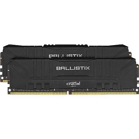クルーシャル (マイクロン製) デスクトップ用ゲーミングメモリ 8GBX2枚 DDR4-3200 CL16 DIMM Black 制限付無期限保証 BL2K8G32C16U4B【国内正規代理店品】