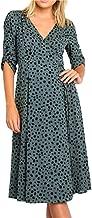 Sanyyanlsy Fashion Autumn Women's Short Sleeve Cross V-Neck Leopard Print Casual Bandage Boho Dress A-Line Chiffon Dress