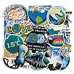 Size of the stickers: 1.4-2.5 inch, 50pcs no-duplicate protect the earth environment theme stickers. All stickers are made of high-quality PVC with Waterproof Snow protection and Anti-sun Function. Safe and Non-toxic, Glossy and Bright, Thick and Dur...