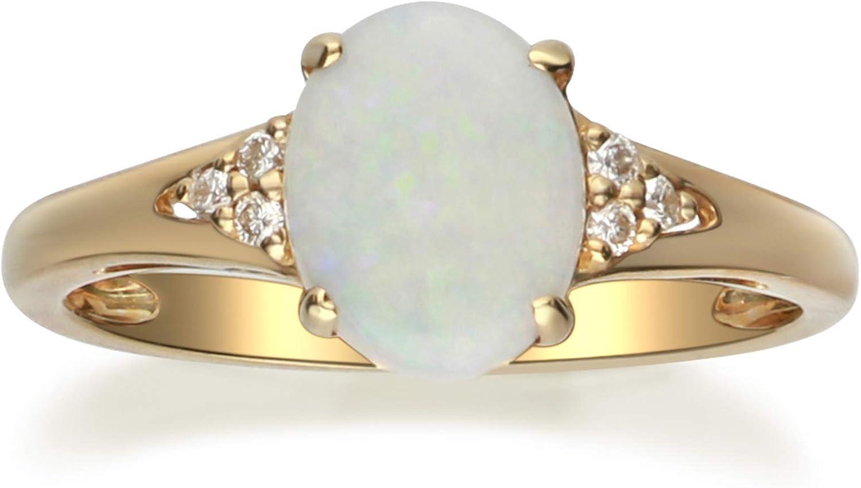 Gin 買い物 Grace 10K Yellow 驚きの値段で Gold Real Ring Natural Diamond with I1