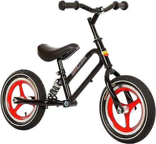KuanDar bicycle Das Kinderfahrrad Hat Keine Pedale, 12-Zoll-Gummiluftreifen Und Verstellbare Sitzgriffe. Rahmen Aus Kohlenstoffstahl