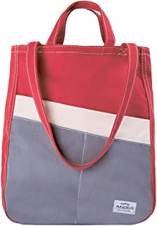 Andes Original Duck Canvas Zip Purse, Multi-Pocket Casual Tote Bag for Ladies, Machine Washable