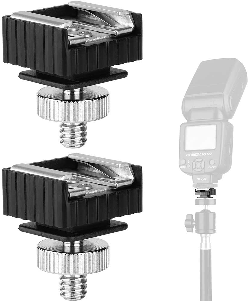 2Pack Flash Hot Bombing new work Shoe Mount Adapter to Hole 4
