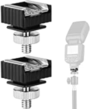 2Pack Flash Hot Shoe Mount Adapter to 1/4 Thread Hole with 1/4