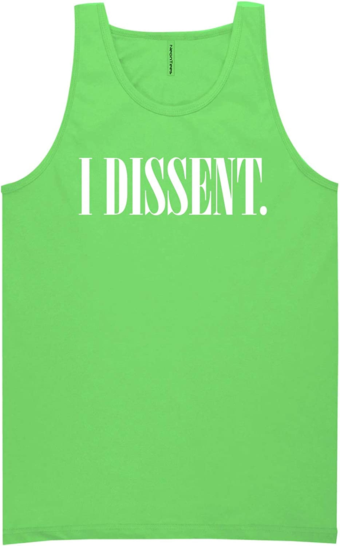 zerogravitee I Dissent Neon Green Tank Top - XX-Large