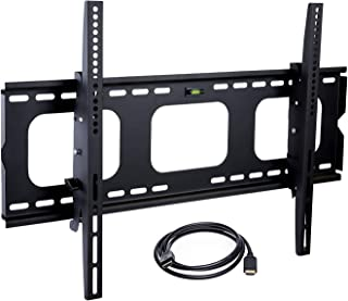 Mount-It! Low Profile TV Wall Mount   Tilting TV Wall Mount Bracket   Heavy-Duty TV Mounting Bracket for Large Flat Screen...