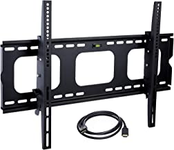 """Mount-It! MI-303B Tilt TV Wall Mount Bracket for LCD, LED, or Plasma Flat Screens, 32"""" – 65"""" Screen Sizes, HDMI Cable Included, Black"""
