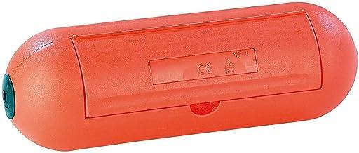 Electraline 360000000 Caja de Protección para Enchufes y Conexiones En Jardín Ip44, Naranja, Única
